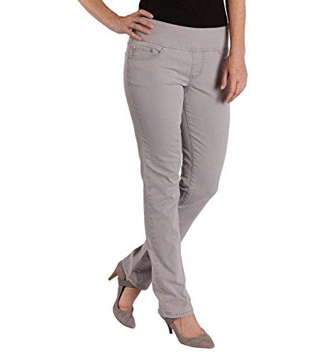 Jag Jeans Women's Petite Peri Straight Pull on Jean, Grey...