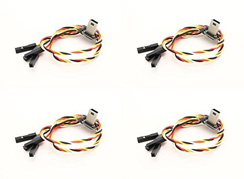 4 x Quantity of Helicopter Quadcopter Airplane Boat Car Controller Mobius USB to AV Out FPV cable with Charging 258000120-0 - FAST FROM Orlando, Florida USA! by HobbyFlip by HobbyFlip