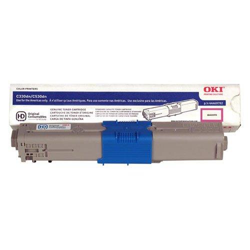 Genuine OEM Magenta Toner Cartridge Oki C330dn C530dn C531dn MC361 MFP MC362w MFP MC561 MFP MC562w MFP - 44469702 - Yield 3,000