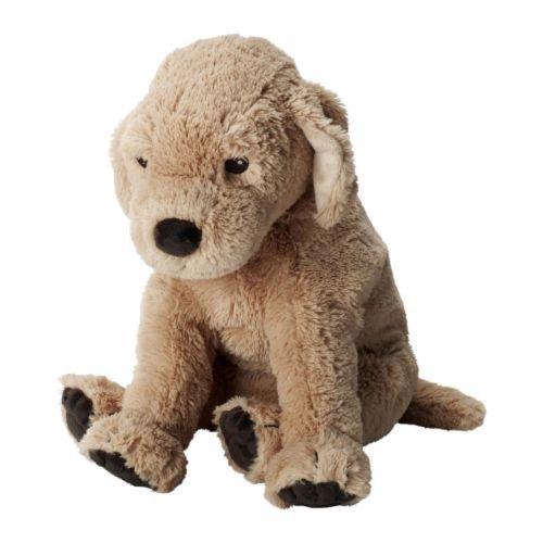Ikea GOSIG GOLDEN Stuffet Plush Animal Soft Toy Puppy Dog, Yellow, 15.75 -