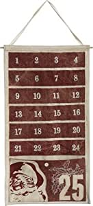 Burgundy Pocket Canvas Advent Calendar