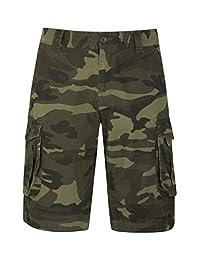 Mountain Warehouse Mens Camo Cargo Shorts -Durable Summer Short Pants Khaki Mens W34