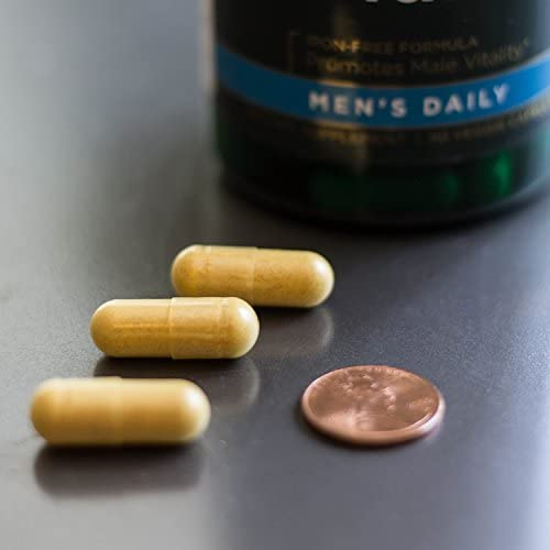 Real Food Multi Men s Multivitamin Multimineral Men s Health Prostate Stress Response Bladder Support Supplement Vegan Gluten-Free Non-GMO 90 Veggie Capsules Veg Caps 2 Pack