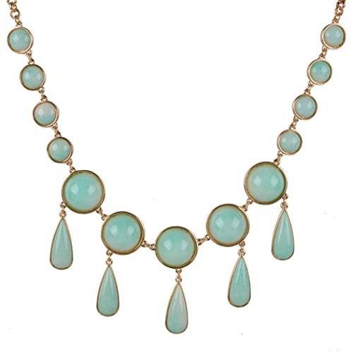 [Real Spark Womens Classical Teardrop Bubble Style Multi Pendant Tassels Princess Statement Chunky Necklace] (Cowgirl Costumes Diy)