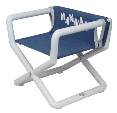Hoohobbers Personalized Jr. Director's Chair/Booster - Denim (Canvas) ()