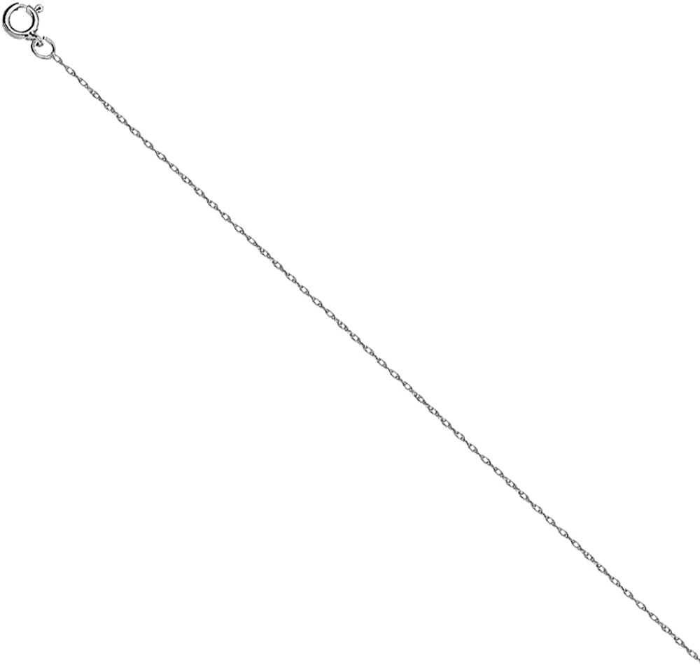 925 Sterling Silver 0.75 Rope Chain in 16 inch 18 inch