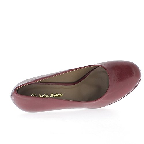 Zapatos mujeres gran tamaño Burdeos tacón 12cm y plataforma