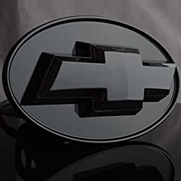 CHEVROLET CHEVY Hitch Cover - Licensed LED Light Trailer Towing Hitch Cover Receiver Black 6530