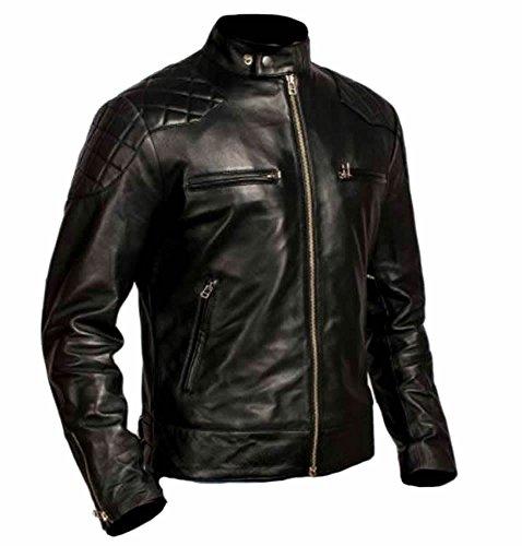 Leather Fringed Motorcycle Jacket - 1