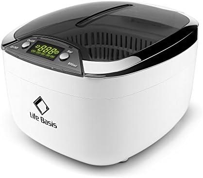 [Gesponsert]LifeBasis 850ml Ultraschallreiniger Digitales Ultraschallreinigungsgerät mit LED Beleuchtung Zahnspangenreinigung...