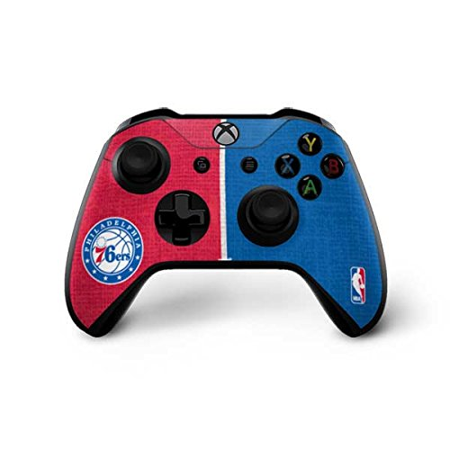 Philadelphia 76ers Xbox One X Controller Skin - Philadelphia 76ers Canvas Split | NBA X Skinit Skin