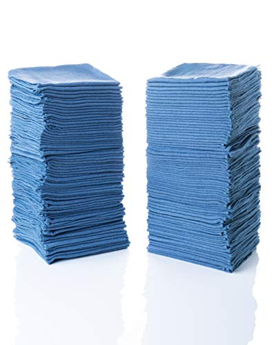 "Simpli-Magic 79186 Shop Towels 14""x12"", Pack of 150, Blue"