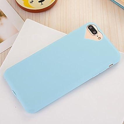 newest fddc0 0491b Apple iPhone 8 Plus Case, iPhone 7 Plus Case Cute Love Heart Hole Rubber  Gel TPU Slim Soft Case Phone Cover for Apple iPhone 8/7 Plus 5.5