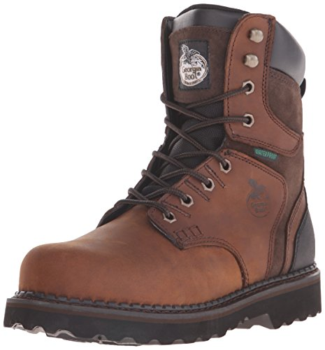 Georgia Boot Mens Georgia Brookville 8 Work Boot Work Shoe Dark Brown