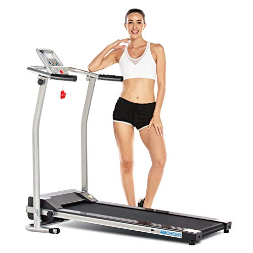 ANCHEER Upgraded Treadmills for Home, Electric Treadmill with LCD Motorized Running Walking Jogging Exercise Fitness Machine Trainer Equipment for Home Gym Office