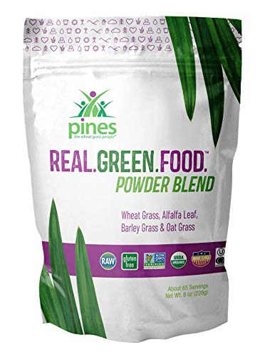 (PINES Real.Green.Food. Organic Superfoods Powder Blend, 8 Ounce | Made with Organic Whole Foods, Non-GMO and Sustainable)
