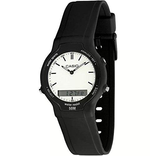 Casio Aw-30-7ev Reloj Analogico/Digital Para Hombre Caja De Resina Esfera Color Blanco: Amazon.es: Relojes