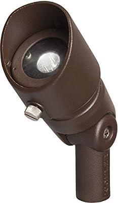 Kichler Lighting 16004AZT30 Landscape 12V 4-watt LED 35-Degree 3000K Adjustable Flood Light, Textured Architectural Bronze