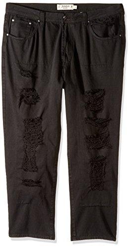 and Tall Newhawk Rip and Tear Jeans, Black, 48W X 34L (Akademik Men Jean)