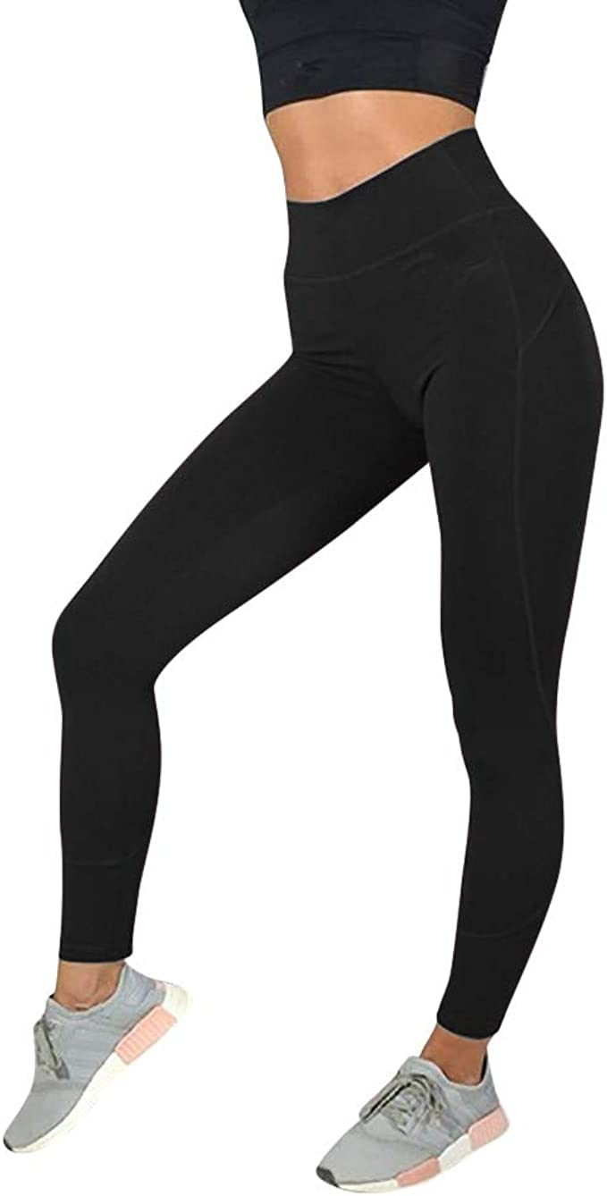 Amazon.com: Fabal Solid Color Yoga Pants Womens Fashion ...