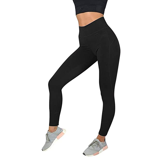 8041d7bc2fc52 ADESHOP Women Mesh Patchwork Fitness Yoga Pants, Women's Fashion Workout  Leggings Fitness Sports Gym Running