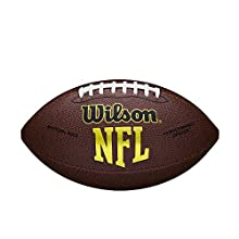 Wilson WTF1445X Pelota de fútbol Americano NFL Force Material Compuesto para Juego recreativo, Unisex, Marrón, Talla Única