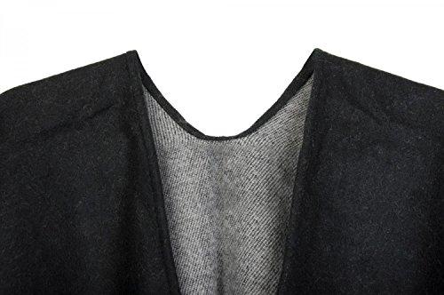 Cape Gris Noir Poncho Femme Uni styleBREAKER Noir Ip5qYqP