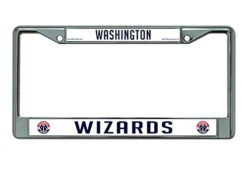 Rico Industries NBA Washington Wizards Standard Chrome License Plate Frame