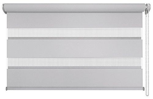 Mydeco® 100x160 cm [BxH] in grau - Doppelrollo ohne bohren, Duorollo - Klemmfix Rollo incl. Klemmträgerr - Sonnenschutz, Sichtschutz für Fenster