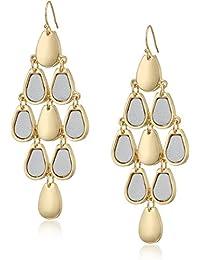 metallic metals drop earrings