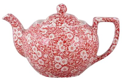 Burleigh Red Calico Teapot Large 1 litre