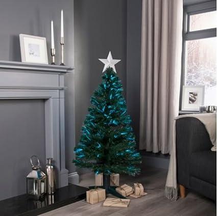 4ft Fibre Optic Rotating Pre Lit Christmas Tree Amazon Co Uk