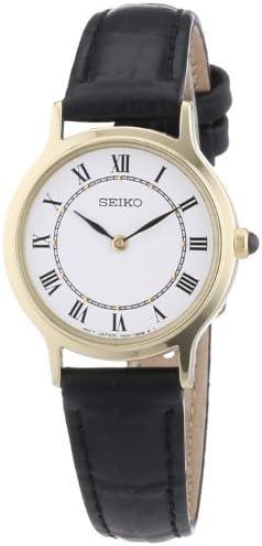 Seiko Women s Quartz Watch Lederband Damen SFQ830P1 with Leather Strap