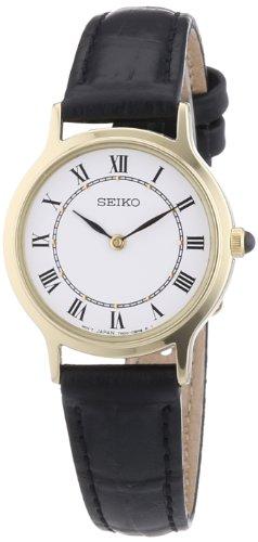 (Seiko Women's Quartz Watch Lederband Damen SFQ830P1 with Leather Strap)