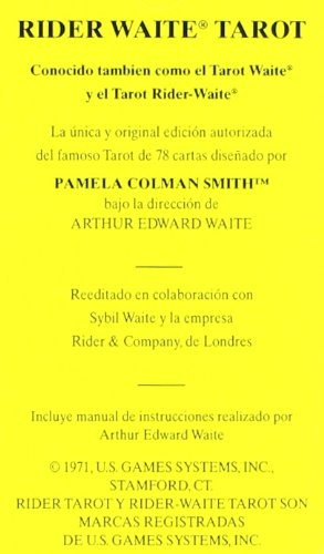 TAROT RIDER WAITE: Amazon.es: PAMELA COLMAN SMITH, ARTHUR ...