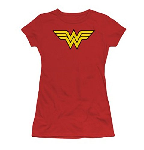 Juniors: DC-Wonder Woman Logo Juniors (Slim) T-Shirt Size L from Trevco