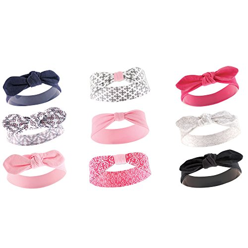 Yoga Sprout 9-Pack Headbands, Trellis, Pink, Navy, Black