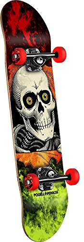 Powell-Peralta Mini Ripper Storm Complete Skateboard, Red