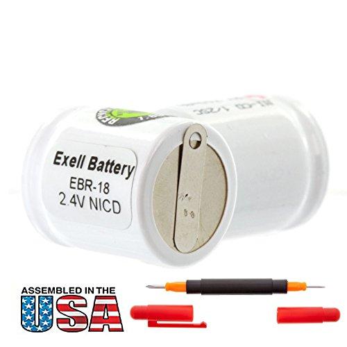 Exell 2.4V Razor Battery for Abercrombie & Fitch 600 Cordless Razor Replaces RAZOR-18