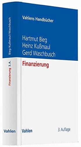 Finanzierung (Vahlens Handbücher der Wirtschafts- und Sozialwissenschaften)