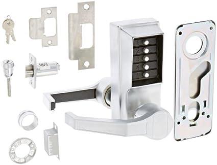 door throw amazoncom kaba simplex l1000 series metal mechanical pushbutton
