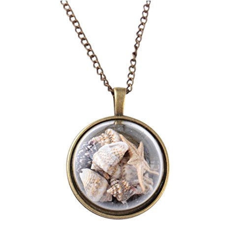 (Women's Necklace, Sea Shell Encrusted Necklace)