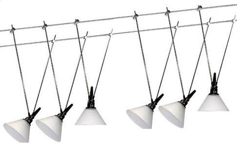 Seilsysteme Led Beleuchtung | Led Niedervolt Seilsystem Seilset Glas 6x3w Warmweiss Weiss Neu