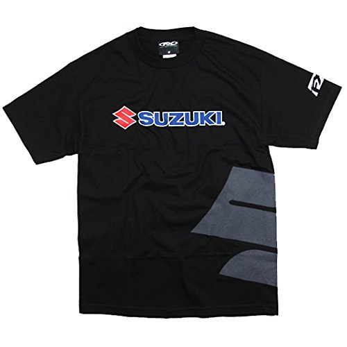 Factory Effex 15-88472 Suzuki Big 'S' T-Shirt (Black, Large) (Suzuki Apparel)