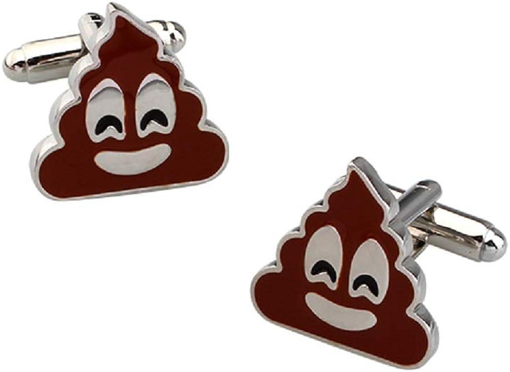 MRCUFF Poop Emoji Pair Cufflinks in a Presentation Gift Box & Polishing Cloth