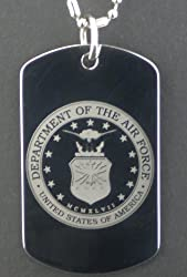 AIR FORCE Dog Tag Pendant Necklace