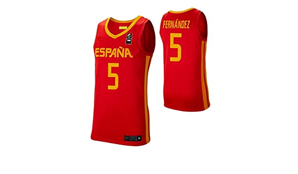 K&A Camiseta Rudy Fernández Selección Española de Baloncesto Rojo ...