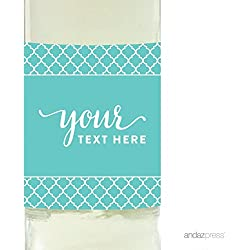 Andaz Press Fully Personalized Collection, Wine Bottle Label, 20-Pack, Custom Text or Logo