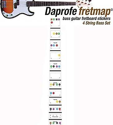 daprofe Guitarra Fretboard Nota Mapa Diapasón extraíble pegatinas ...