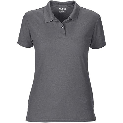 Gildan Ladies Performance Double Pique Sports Shirt Charcoal
